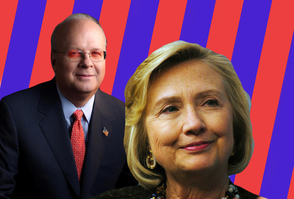 Karl Rove Denies His Lies About Hillary Clinton