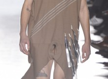 Rick Owens shocked the fashion world when he had three male models literally strut their stuff (read: penises) down his catwalk at Paris Men's Fashion Week. (© Fairchild Photo Service/Condé Nast/Corbis photo)